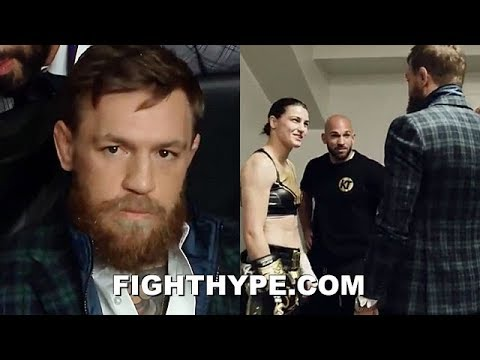CONOR MCGREGOR INVADES DAZN CARD WHILE MALGINAGGI IN THE BUILDING; SHOWS UP TO SUPPORT KATIE TAYLOR