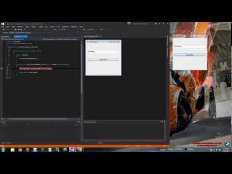 C# Button, Text box, Properties and Events (C# Windows Forms Application: Part 2)