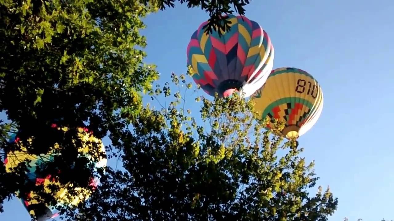 Hot Air Balloons over Asheville, NC (Candler) - YouTube