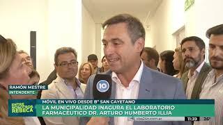 Mestre inauguró un laboratorio farmacéutico en barrio San Cayetano