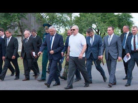 Лукашенко посетил Полесский