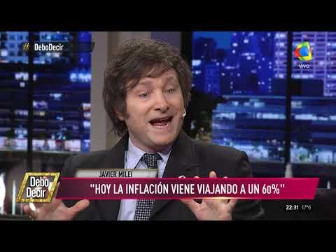 Milei: Hoy la inflación viene viajando a un 60%