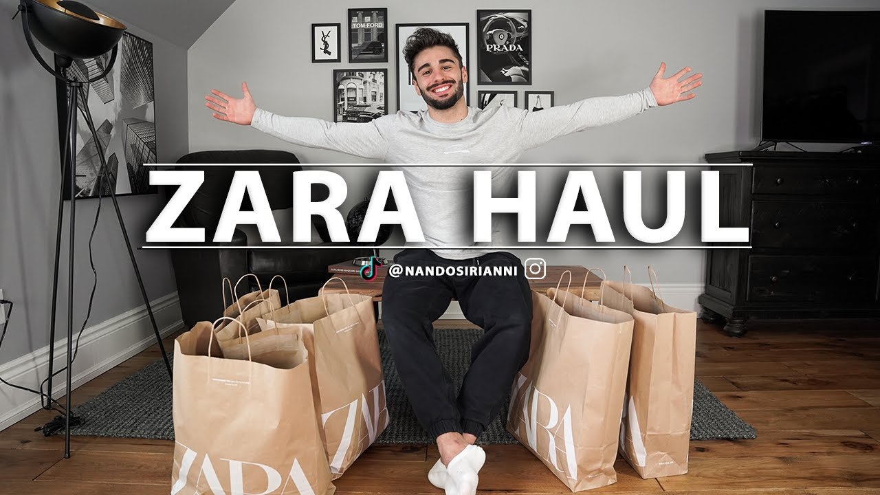 HUGE $1000 ZARA HAUL | MEN'S FASHION