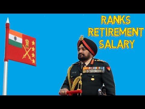 Indian Army RANKS | SALARY | RETIREMENT  भारतीय सेना रेंक | वेतन | सेवानिवृत्ति