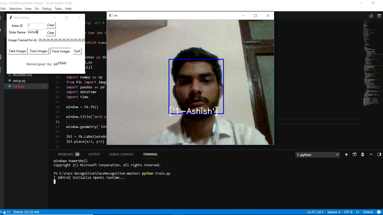Face Recognition Based Attendance System( Python & Machine Learning)