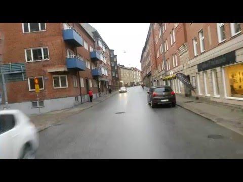 Cruising through Lund by bus