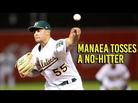 Watch the final pitch of Manaea's no hitter in Oakland Athletic's win over Red Sox