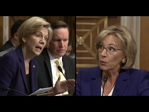 Elizabeth Warren Questions Betsy Devos | ABC News