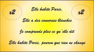 Christophe mae la parisienne parole / lyric