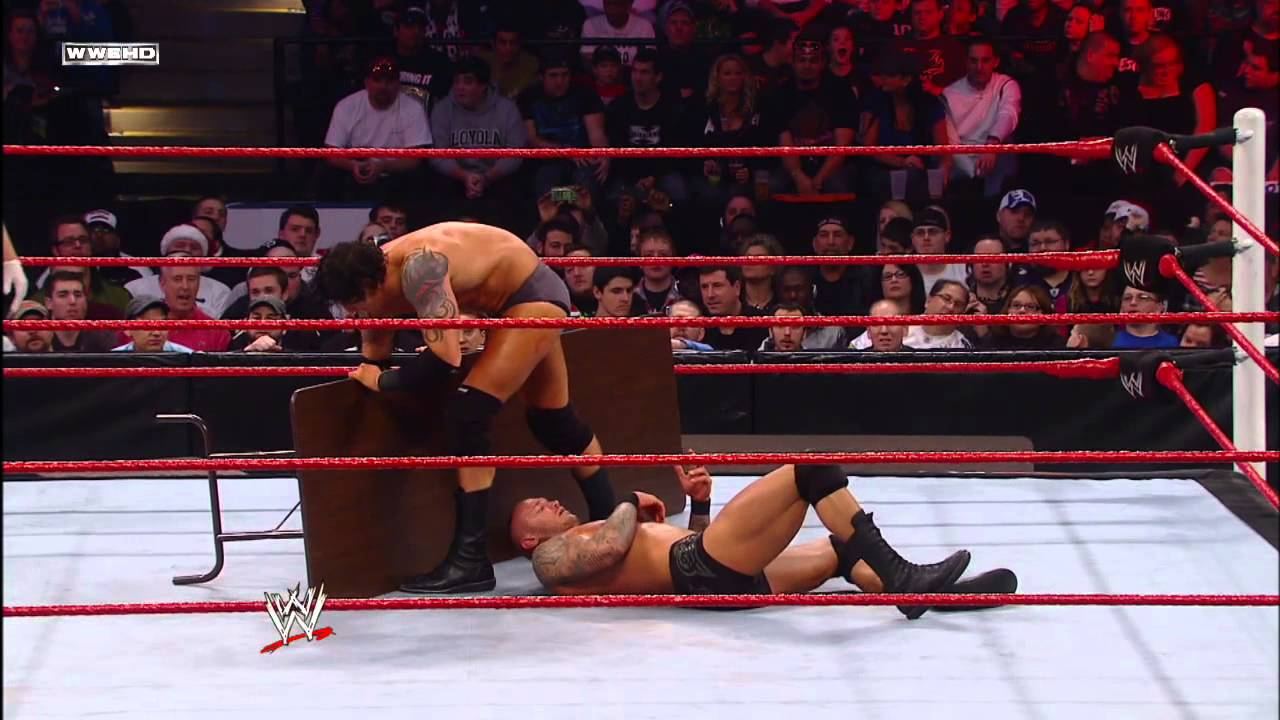 Randy Orton vs. Wade Barrett - Tables Match: Tables, Ladders ...