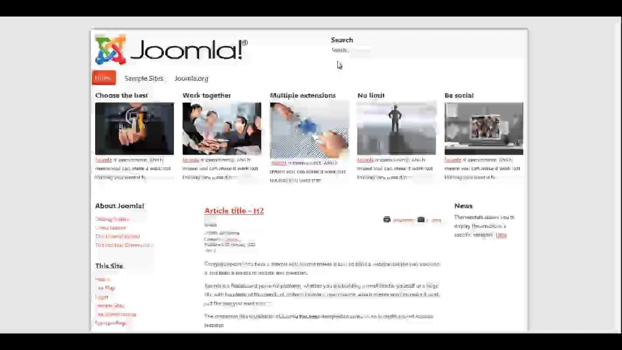 Template Creator CK 3 - Overview, simple demo, create your Joomla ...