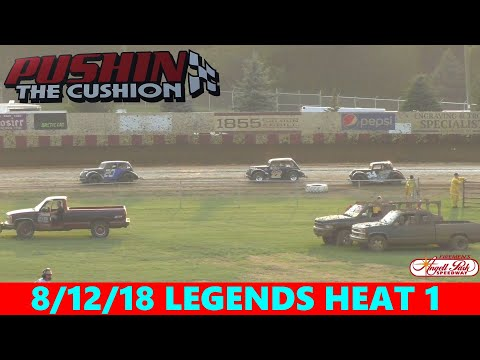 Angell Park Speedway - 8/12/18 - Legends - Heat 1