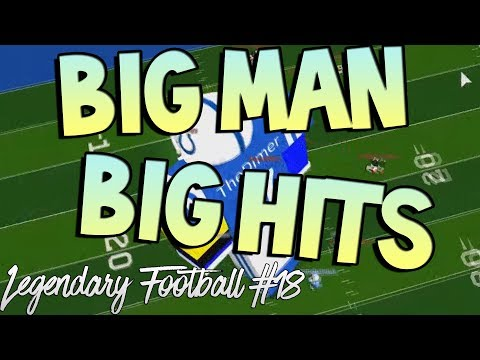 BIG MAN BIG HITS [Legendary Football Funny Moments #18]