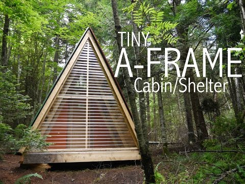 A tiny a frame cabin shelter in the woods of vermont for Small a frame home plans