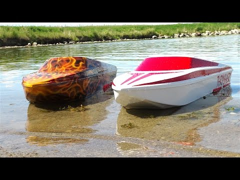 RC ADVENTURES - UNBOXiNG THRASHER JET BOATS! 5s LiPO - Strea