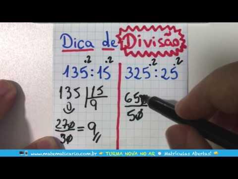 TRUQUE DE DIVISÃO RÁPIDA E FÁCIL PARA NÚMEROS TERMINADOS EM 5 Minuto Matemática