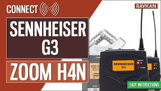How to Connect a Sennheiser G3 Wireless system to a Zoom H4n