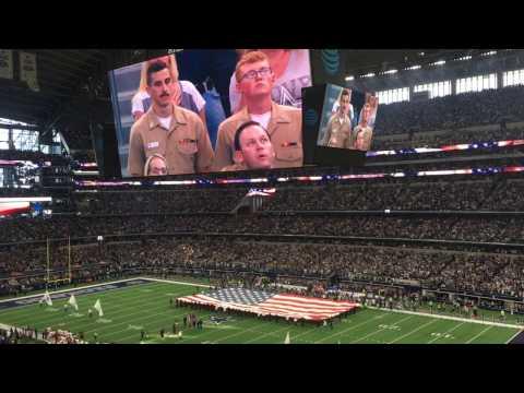 Dallas Cowboys Thanksgiving Day National Anthem