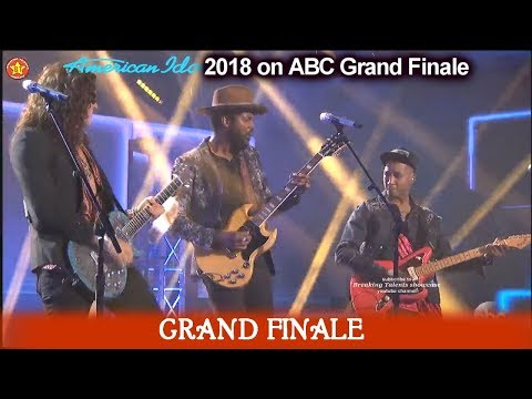 "Cade Foehner Dennis Lorenzo & Gary Clark Jr ""Bright Lights"" American Idol 2018  Grand Finale"