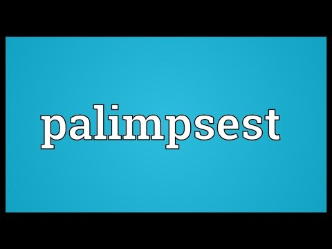 Palimpsest Meaning