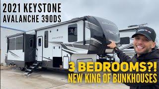 3 Bedroom Fifth Wheel?! My New Favorite RV | 2021 Keystone Avalanche 390DS