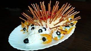 Красиво украшенные салаты на день рождения!