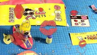 ЛОЛ сюрприз петс 3 серия 2 волна/ Самодельный шарик из ТЕСТА  / LOL pets 2 wave