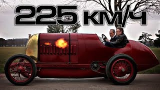 100 летний суперкар с 30 литровым движком рвет все шаблоны Рекорд скорости и редкий суперкар