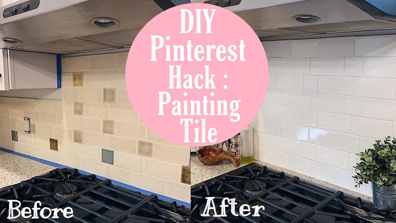 Diy Pinterest Hack Painting Tile Youtube