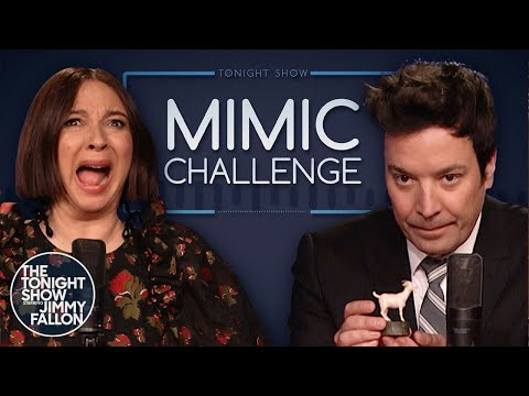 Mimic Challenge with Maya Rudolph | The Tonight Show Starring Jimmy Fallon