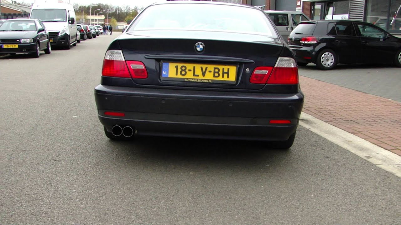 bmw e46 316i exhaust sound sportauspuff echappement take