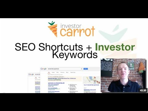 SEO Keywords for Real Estate Investors - SEO for Investors - onCarrot.com