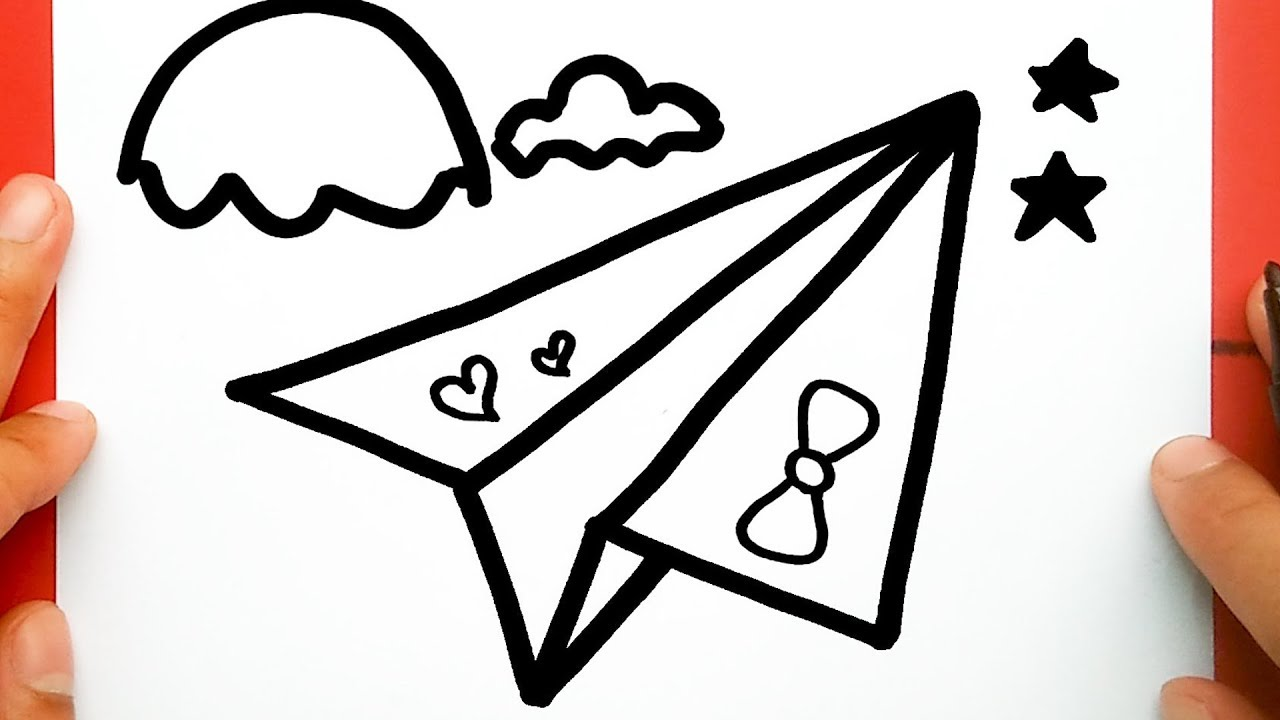 How To Draw A Paper Plane Draw Cute Things Youtube