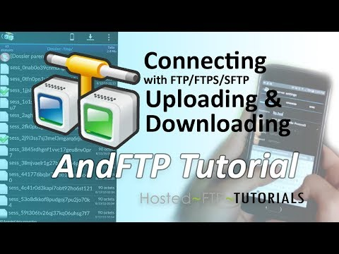 AndFTP Tutorial - Connecting, Uploading And Downloading