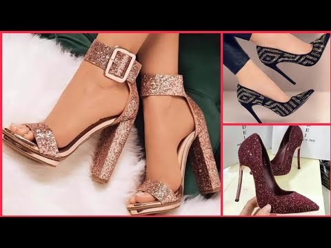 5ac1a88195a46 Women's Glitter High heels 2019-Women Daralea Glitter Closed Toe High Heel  Court Shoes - YouTube