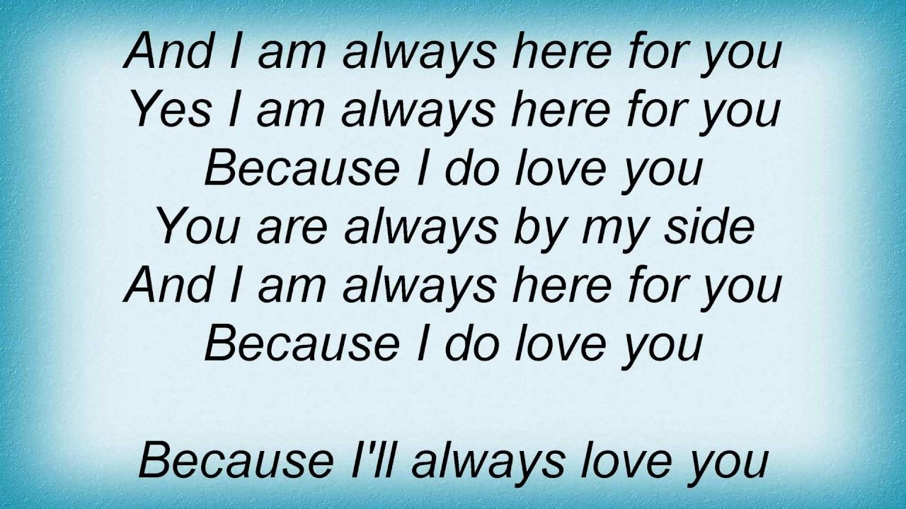 Saga Always Here For You Lyrics Youtube