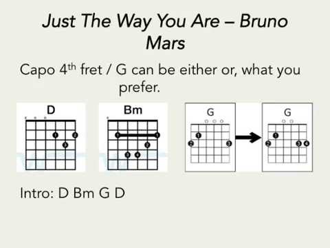 Just the way you are - Bruno Mars (Guitar Chords only) - YouTube