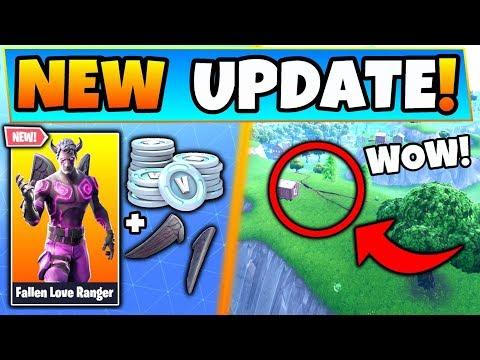 Fortnite Update: FALLEN LOVE RANGER Skin + Map IS BREAKING! - 7 New Things in Battle Royale!