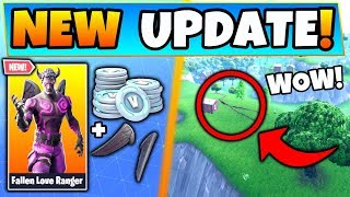 Fortnite Update: FALLEN LOVE RANGER Skin + Map IS BREAKING! - 7 New Things in Battle Royale!