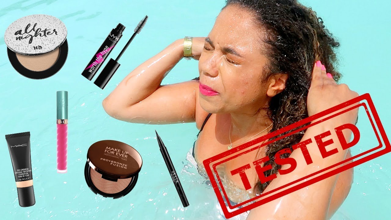 Waterproof Makeup Tested At The Beach Splash Swim Snorkel