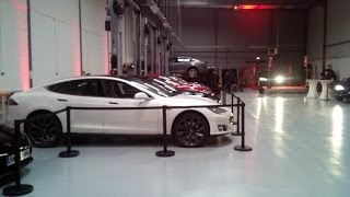 Tesla Model S - Luxembourg to Tesla Paris with discover of the new Service Center at Gennevilliers