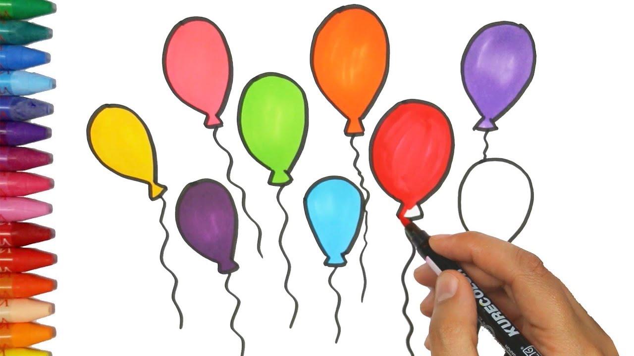 Wie man Ballons zeichnet - Wie zeichnet man bunte Luftballons ...