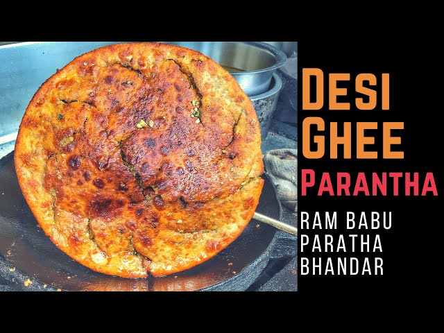 Desi Ghee Breakfast in Agra at Ram Babu Paratha Bhandar
