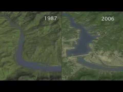 Changes in Three Gorges Dam