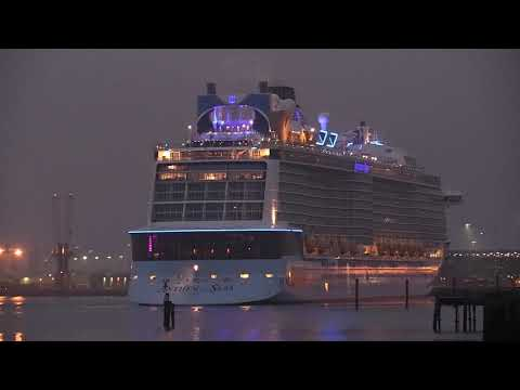 ANTHEM OF THE SEAS CALLS INTO SOUTHAMPTON FROM BREST IN FRANCE  15/08/20