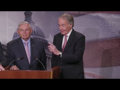 Senators Markey, Menendez Hold Press Conference on Trump Exec Order on Offshore Oil Drilling