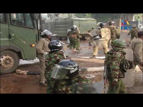 Violence rocks Nairobi as Raila returns from overseas