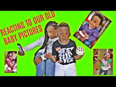 Reacting To Our Old Baby Pictures- YAYA AND DJ