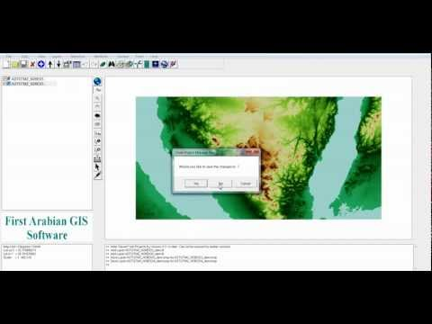 GIS Software Convert NASA ASTER Geo DEM to Rectified Elevation Image, Convert Shape to HTML Google