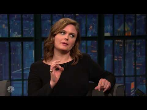 Emily Deschanel Late Night with Seth Meyers January 18th, 2017